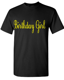 Expressions Customized Birthday Girl Yellow/Black