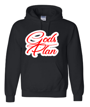 Expressions Customized Gods Plan Red/White/Black Hoodie 2