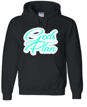 Expressions Customized Gods Plan Teal/White/Black Hoodie 2