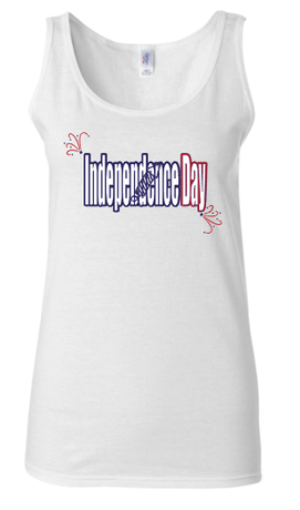 EC Womens Independence Day White Tank
