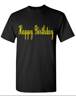 Expressions Customized Happy Birthday Yellow/Black