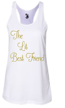 Expressions Customized Womens The Lit Best Friend White Tank