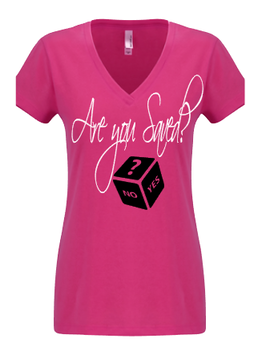 Expressions Customized Womens Are you Saved? Pink 1