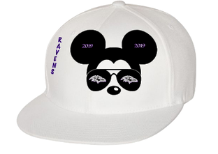 Expressions Customized Sports Theme - Ravens Mickey White Hat