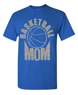 Expressions Customized Basketball MOM Silver/Blue Glitter