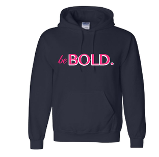 Expressions Customized be Bold Navy Blue Hoodie 1
