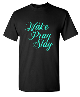 Expressions Customized Wake Pray Slay Black/Teal 1