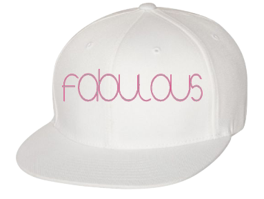 Expressions Customized fabulous Pink/White Fitted Hat 1