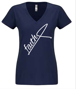Expressions Customized Womens Faith Navy Blue