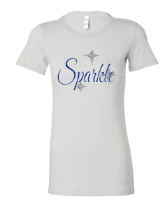 Expressions Customized Sparkle White Fitted Bella T Shirt
